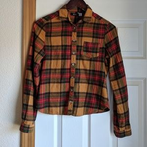 BDG Plaid flannel shirt size xs